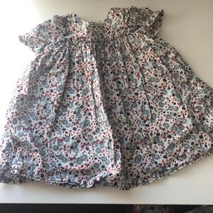 Floral Dress (red, white and blue)